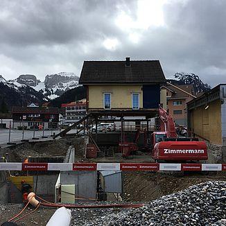 Tiefbau Garage Cadosch Weissbad