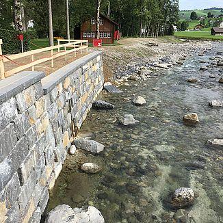 Wasserbau Hochwasserschutz Weissbad