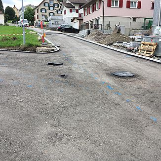 Strassenbau Bruggmoos Speicher